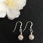 Sterling Silver Drop Earrings with Sterling Silver Filigree Ball