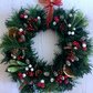 Traditional Christmas Wreath with Faux Fir, Berries and Pine Cones (12x12 inch)
