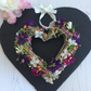 Faux Floral Rattan Heart Wall Decoration (6x6 inches)