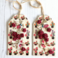 Butterflies, Dove & Red Paper Roses Gift Tags - Set of 2