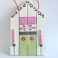 Painted Wooden House (or Beach Hut) Hanging Plaque Decoration