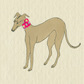 Whippet Dog Greetings Card Greyhound Lurcher Hound Dog Originall Art Card