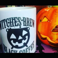 Halloween witches brew mug