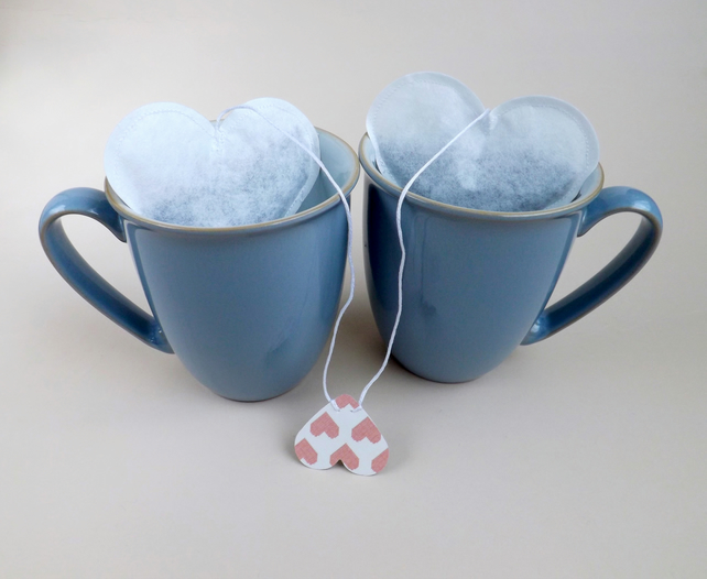 Heart Shaped Tea Bags set of 2, Valentine's Day Gift