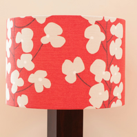 Red 30cm Drum Lampshade in John Lewis Raspberry 'Wallflower' FREE P&P