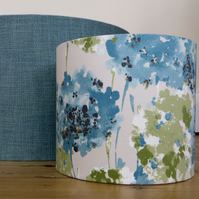 Teal and green floral 20cm lampshade in Romo 'Fleur' lagoon colours