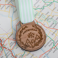 Adventurer Medal -  gift for travellers, back packers, explorers and scouts