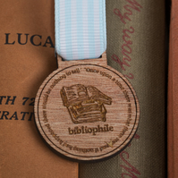 Bibliophile Medal - gift for teachers, book worms and reading lovers!