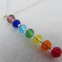 Rainbow Necklace, SALE ITEM - Chakra & Rainbow pendant necklace.
