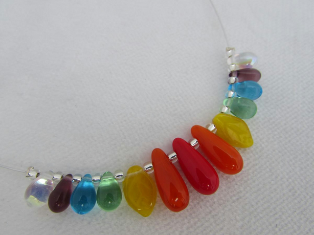Receive 50% off with code SALE17 Rainbow Necklace, Chakra necklace, Rainbow