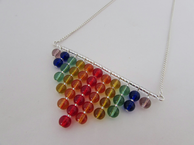 Rainbow Necklace, Rainbow Jewellery, Rainbow Jewelry, Rainbow Gift