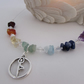 SALE ITEM - Yoga Pose & Gemstone Necklace, Chakra Necklace, Chakra Gemstone,