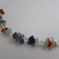 SALE ITEM  50% off - Rainbow Necklace, Chakra Necklace, Gemstone Jewellery