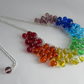 Rainbow Necklace, Chakra Necklace.  Rainbow Cluster Necklace.