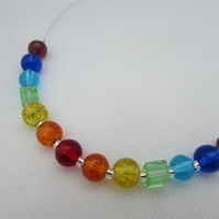 Rainbow Necklace, Chakra Necklace. Rainbow Jewellery, Rainbow Jewelry