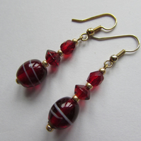 SALE ITEM 25% off - Red Earrings