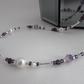 Amethyst, South Sea Shell Pearl & Sterling Silver Necklace.