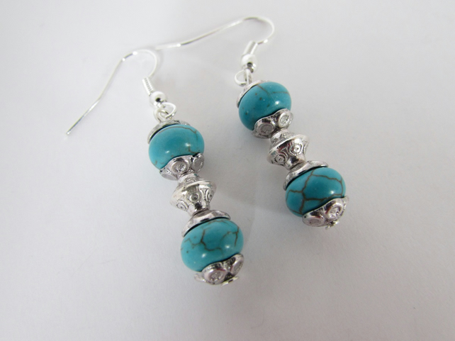 Turquoise Earrings, Turquoise Jewellery, Blue Jewellery, Blue Jewelry
