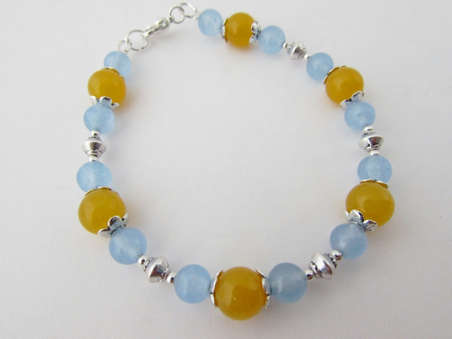 50% off all items use code SALE17 Blue & Yellow Quartzite Bracelet Blue Bracelet