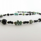 SALE ITEM - African Turquoise, Black Onyx & Sterling Silver Necklace.