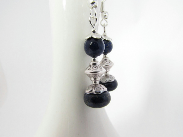 Receive 50% off with code SALE17 Lapis Lazuli Earrings, Lapis Lazuli Jewellery