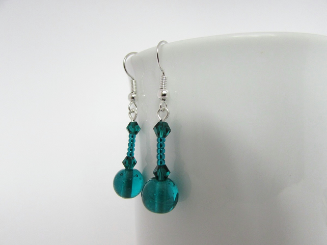 50% off all items with code SALE17 Teal Earrings, Teal Jewellery, Teal Jewelry,