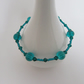 Teal Glass Bead Bracelet