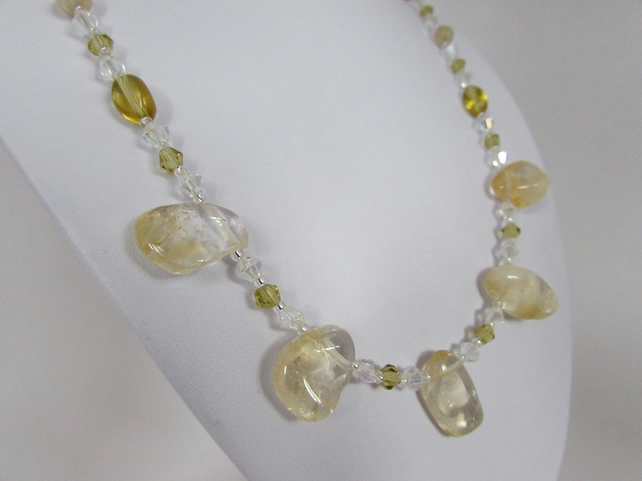 Receive 50% off with code SALE17 Citrine Necklace, Citrine & Silver Necklace