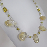 Citrine Necklace, Citrine & Sterling Silver Necklace, Citrine Jewellery