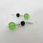 Green & Black Earrings