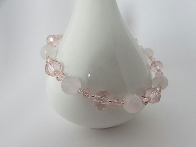 Receive 50% off with code SALE17 Rose Quartz & Sterling Silver Bracelet. Taurus