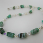 Chrysoprase, Freshwater Pearl & Sterling Silver Necklace, Chrysoprase Jewellery
