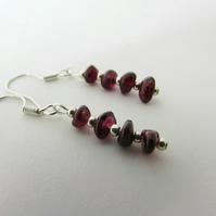 Garnet Earrings, Garnet Jewellery, Garnet Jewelry, January Birthstone, Capricorn
