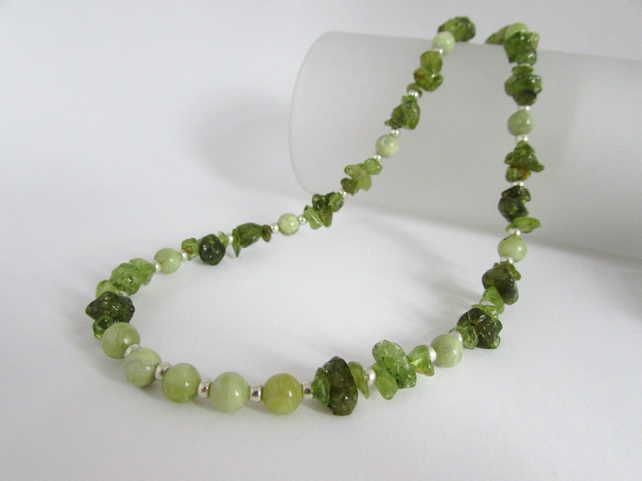 Peridot Necklace, August Birthstone, Peridot Jewelry, Peridot Jewellery