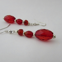 Red Earrings  - F Red Jewellery, Red Jewelry