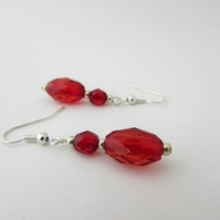 Red Earrings - G  Red Jewellery, Red Jewelry, Christmas Jewellery, Christmas