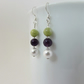 Peridot, Pearl, Amethyst & Sterling Silver Earrings, Peridot Earrings, Amethyst