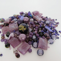 Purple Beads. Mixed bag of Purple Beads, Purple Beads for craft making