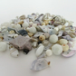 White Beads, Cream Beads. Mixed bag of Pale Beach Colour Beads, Shell Beads