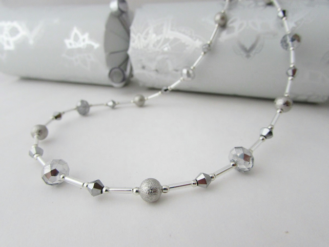 50% off all items with code SALE17 Silver Coloured Necklace, Party Necklace