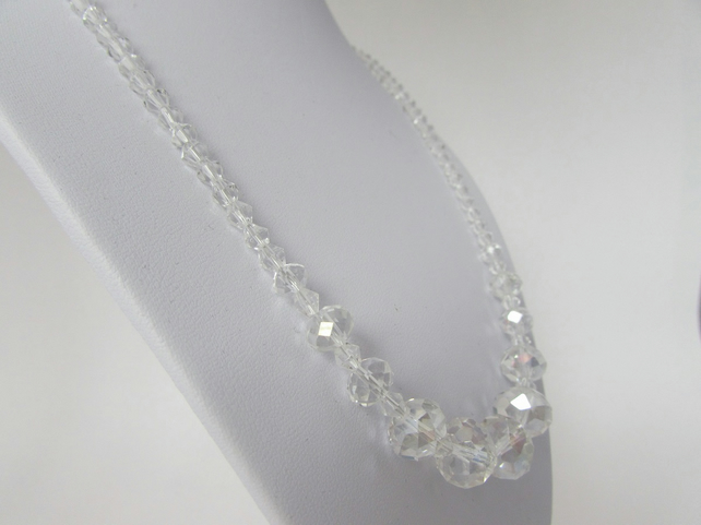 Receive 50% off with code SALE17. Crystal Necklace, Glass Bead Necklace,