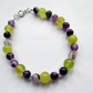 Receive 50% off with code SALE17 Purple Agate & Quatzite Bracelet, Agate Gift