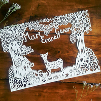 Woodland New Baby Paper cut