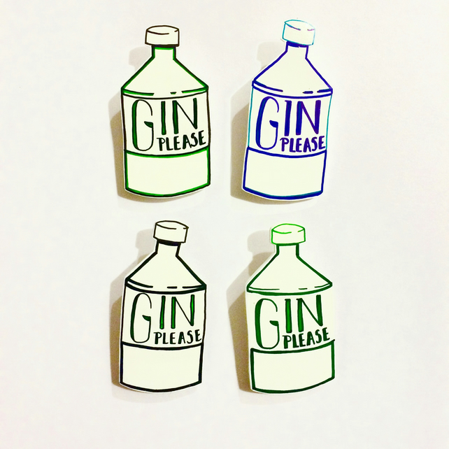 Gin Please Brooch