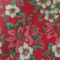 Winter Poinsetta Cushion Cover.