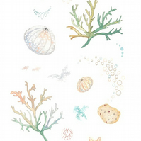 Under the sea coral sea urchin art print