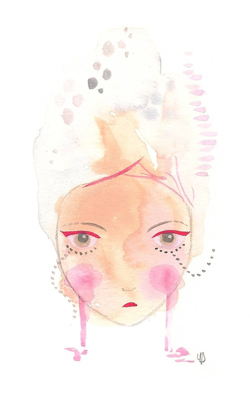 Fierce girl art print giclee a4 wall art