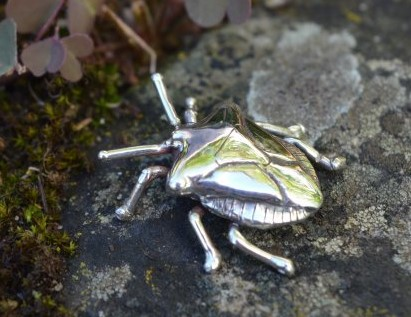 Sterling Silver Ornament: Shieldbug