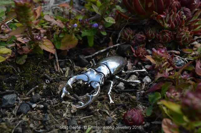 Sterling Silver Ornament: Stag Beetle