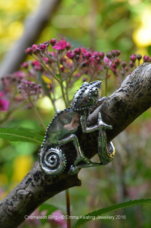 Sterling Silver Ring: Chameleon